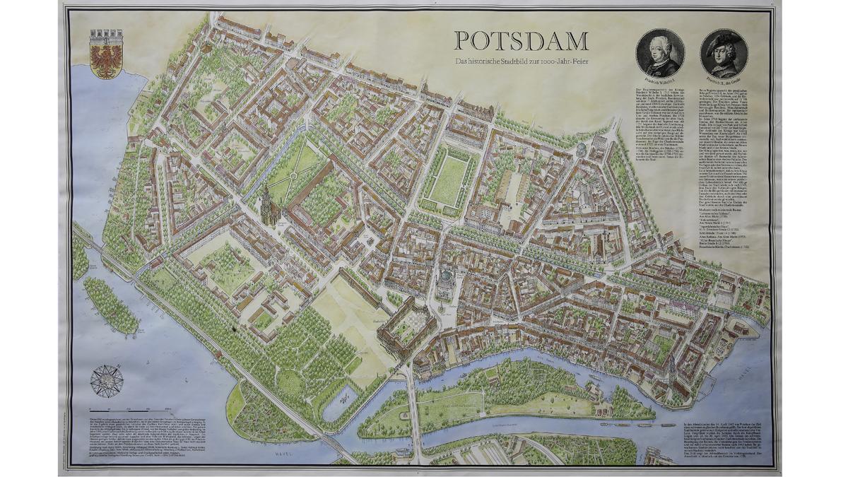 Historische Karte Potsdam.Ein Bild Und Seine Geschichte Kulturstadt Potsdam
